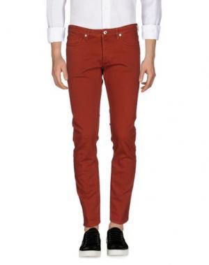 Джинсовые брюки MAURO GRIFONI. Цвет: ржаво-коричневый