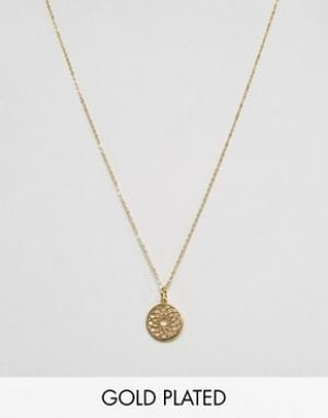 Ottoman Hands Crown Chakra Pendant Necklace. Цвет: золотой