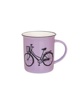 Кружка Велосипед Elan Gallery. Цвет: сиреневый