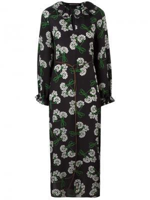 Платье с цветочным рисунком Ter Et Bantine. Цвет: чёрный