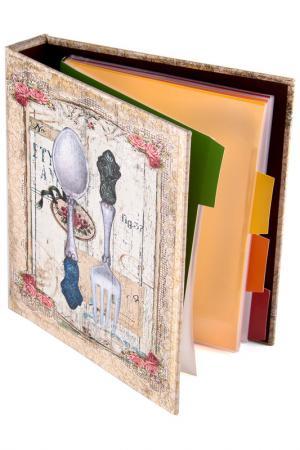 Книга для записи 18х23х4см Русские подарки. Цвет: красный, синий, белый