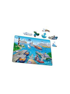 Пазл Порт LARSEN AS. Цвет: белый, синий, зеленый, голубой, оранжевый, желтый