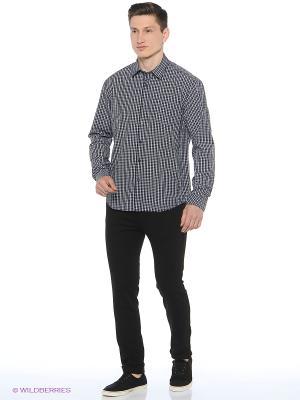 Рубашка Finn Flare. Цвет: темно-синий