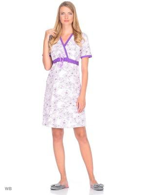 Ночная сорочка Nuova Vita. Цвет: лиловый, фиолетовый