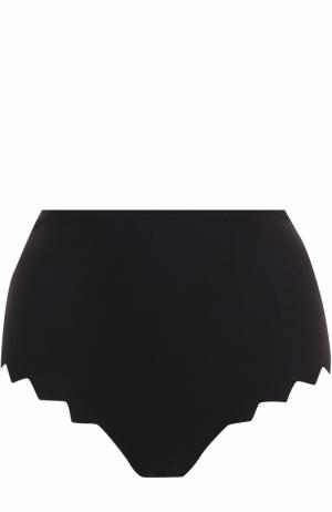 Плавки-бикини с завышенной талией Marysia. Цвет: черный