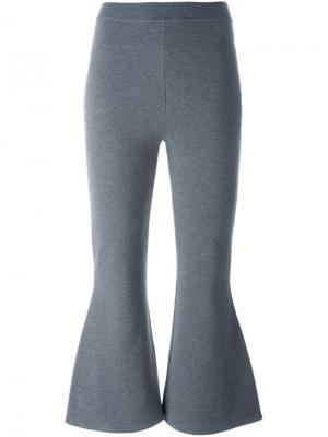 Укороченные расклешенные брюки Stella McCartney. Цвет: серый