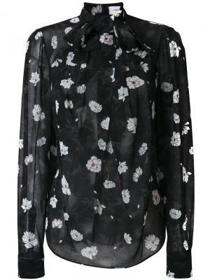 Рубашка с цветочным принтом Carven. Цвет: чёрный