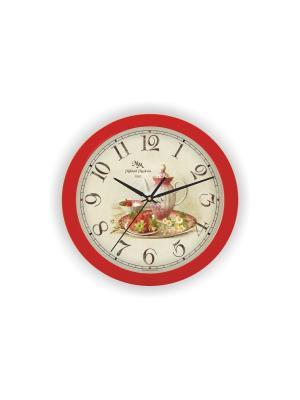 Часы настенные Михаилъ Москвинъ. Цвет: красный