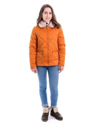 Куртка даяна Аксарт. Цвет: рыжий