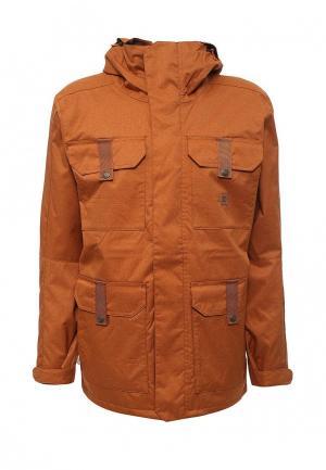 Куртка горнолыжная DC Shoes. Цвет: оранжевый
