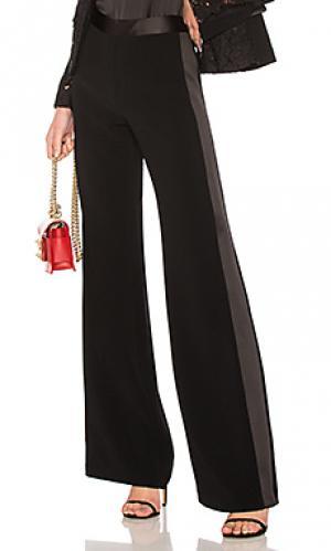 Брюки с широкими штанинами corset Alexis. Цвет: черный