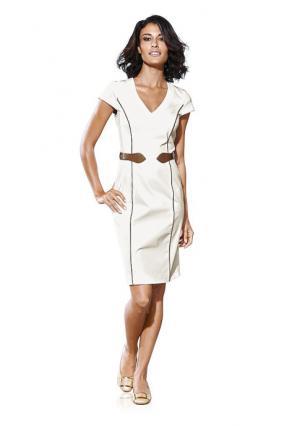 Платье-футляр Rick Cardona. Цвет: серый/коньячный