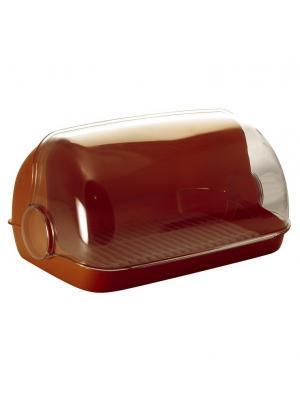 Хлебница Пышка большая Plastic Centre. Цвет: коричневый