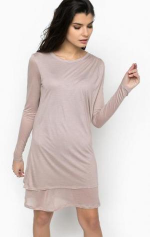 Короткое платье с длинными рукавами Diesel. Цвет: розовый
