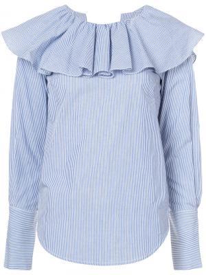 Open back ruffle shirt Sea. Цвет: синий