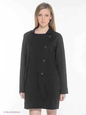 Пальто OBJECT. Цвет: черный