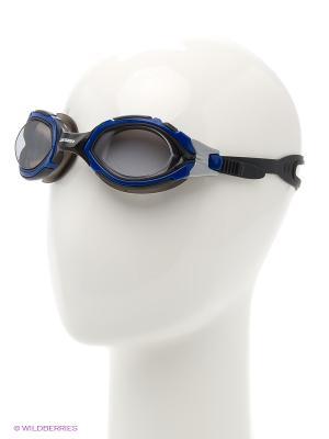 Очки плавательные S41 Larsen. Цвет: синий, черный