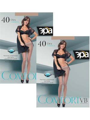 Колготки Comfort VB 40, 2 пары ЭРА.. Цвет: бронзовый