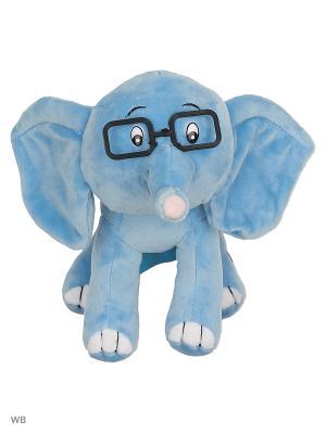 Мягкая игрушка Мульти-пульти 38 попугаев. Слоненок озвученный.. Цвет: синий
