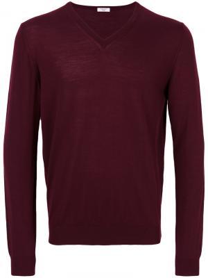 Вязаный свитер Fashion Clinic Timeless. Цвет: розовый и фиолетовый
