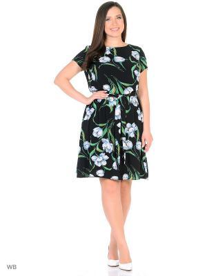 Платье трикотажное средней длинны с коротким рукав MILANIKA
