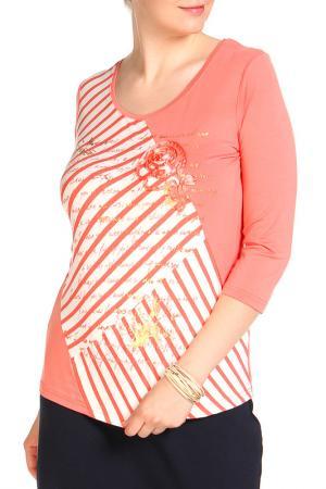 Блуза HELENA VERA. Цвет: коралловый