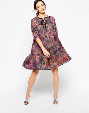 Ivana Helsinki Платье с принтом Asta. Цвет: мульти