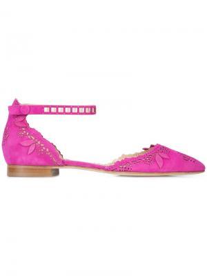 Балетки Evie Marchesa. Цвет: розовый и фиолетовый
