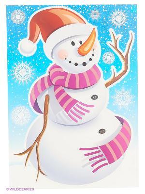Снежный приятель DECORETTO. Цвет: красный, белый, синий, фиолетовый