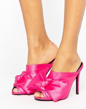 ASOS Сабо на высоком каблуке HAVOC. Цвет: розовый