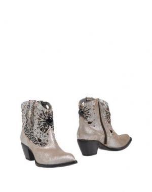 Полусапоги и высокие ботинки GIANCARLO PAOLI. Цвет: серебристый