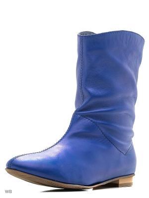 Ботильоны La Gatta. Цвет: голубой