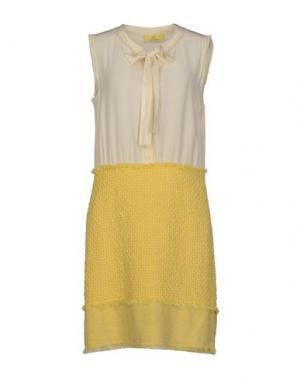 Короткое платье SWAP INSIDE. Цвет: светло-желтый