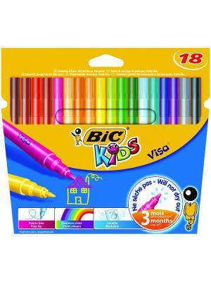 Цветные фломастеры BIC Visa, 18 цветов. Цвет: желтый, синий, зеленый, красный