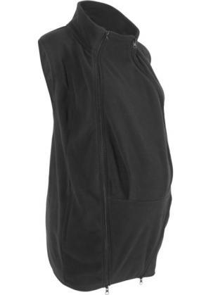 Жилет из флиса с карманом-вставкой для малыша (черный) bonprix. Цвет: черный