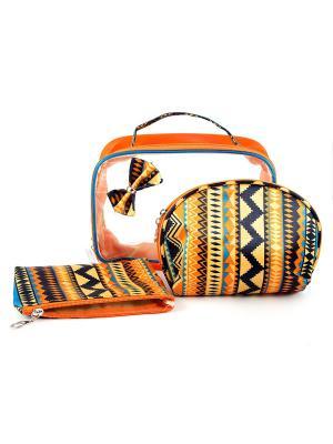 Набор органайзеров для путешествий из 3шт. Русские подарки. Цвет: рыжий, прозрачный