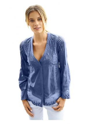Кружевная блузка B.C. BEST CONNECTIONS. Цвет: белый, желтый, коралловый, синий