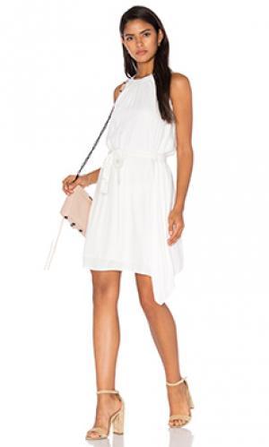 Мини платье alezee LA Made. Цвет: белый
