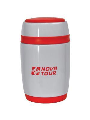 Термос из нержавеющей стали Ланч 480 Nova tour. Цвет: серый, красный