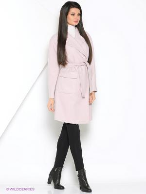 Пальто КАЛIНКА. Цвет: розовый
