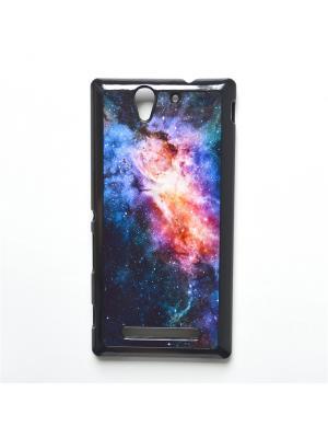 Чехол для Sony Xperia C3 Космос Boom Case. Цвет: темно-синий