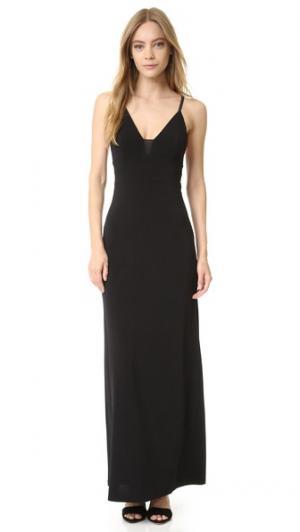 Платье-комбинация AIR с прозрачными вставками alice + olivia. Цвет: голубой