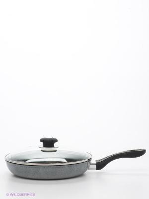 Сковородка, 28см. Winner. Цвет: серый