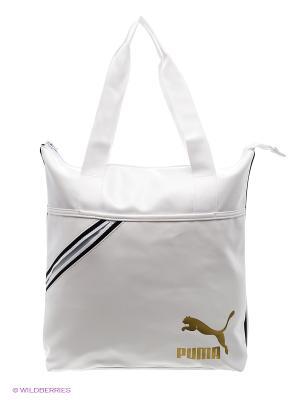 Сумка Archive Shopper P Puma. Цвет: белый