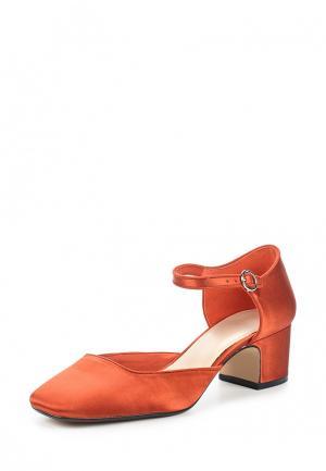 Туфли Mango. Цвет: оранжевый