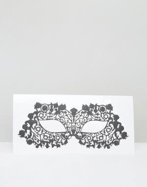 Facelace Кружевная маска с отверстиями для глаз Face Lace Halloween Musetress. Цвет: черный