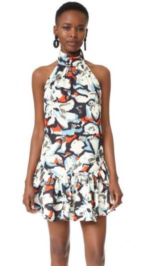 Платье Gabriella с принтом в виде гардений Milly. Цвет: мульти