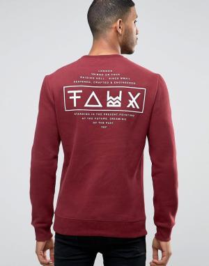Friend or Faux Свитер с принтом на спине Limitless. Цвет: красный