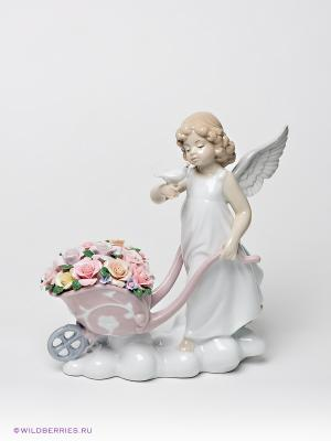 Фигурка Ангел Pavone. Цвет: молочный, бледно-розовый