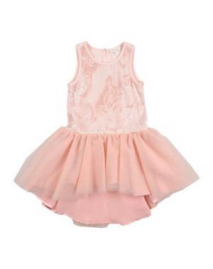 Платье MICROBE. Цвет: светло-розовый